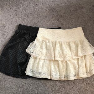 Two skater style skirts size medium